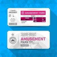Amusement park Ticket Card. Vintage Element Design. vector