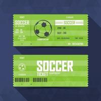Soccer, Football Ticket, soccer sport. vector illustration