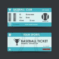 Baseball Ticket. guidelines for element design. Vector illustration