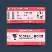 Football, Soccer Ticket. guidelines for element design vector