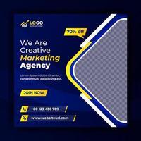 banner de marketing digital de publicación de redes sociales de marketing creativo vector