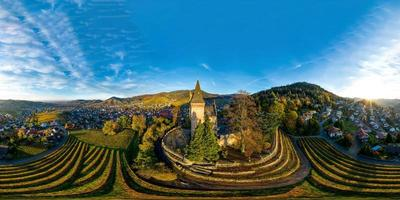 Aerial view of Kappelrodeck in the Black Forest mountains, Germany photo
