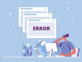 Error page loading illustration concept vector