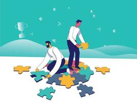 Working together illustration concept vector