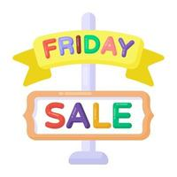 Friday Sale Sign vector