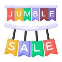 Jumble Sale Sign vector