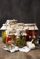 arreglo de verduras en escabeche foto