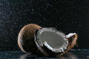 Coconut on the table photo