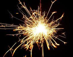 burning christmas sparkler photo