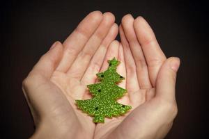 Christmas holiday gift shopping background photo