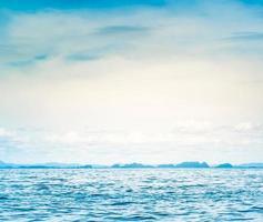 Blue sunny sea photo
