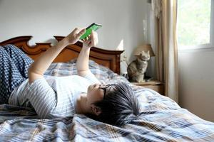 relajarse mujer asiática foto