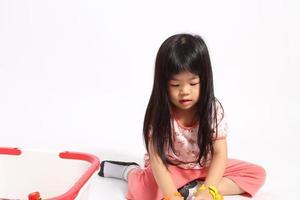 niño juguetón foto