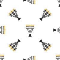 Illustration on theme big colored pattern menorah vector