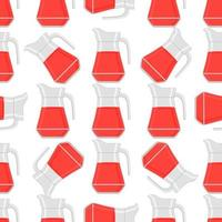 Illustration on theme big colored lemonade in glass jug vector
