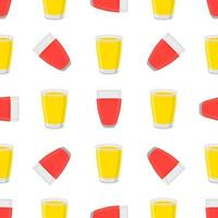 Illustration on theme big colored lemonade in glass cup vector
