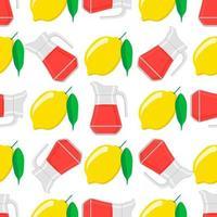 Illustration on theme big colored lemonade in lemon jug vector