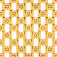 Illustration on theme big colored pattern torah vector