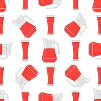 Illustration on theme colored lemonade in glass jug vector