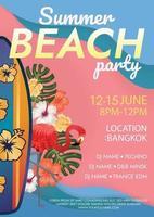 summer beach party poster beach island party vector