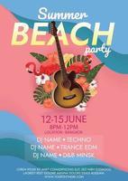 beach island party summer beach party poster vector