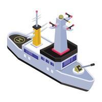 barco de la marina y las fragatas vector