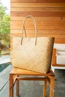 Beautiful woven bag - fashion style photo