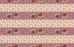 Batik Parang Seamless Pattern with Pastel Color vector