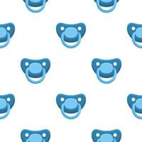Illustration on theme seamless pattern baby pacifiers vector