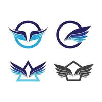 Wing logo images vector