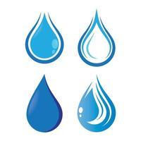 Water drop logo images vector