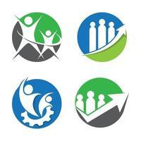 Business teamwork logo images illustration vector