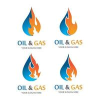 Oil and gas logo images vector