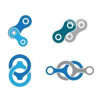 Chain logo images illustration vector