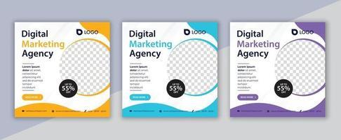 digital marketing social media post, business marketing flyer design vector