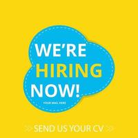 Join our team banners. We are hiring communication poster, Vacancy job vector