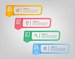 modern text box template, infographics banner vector
