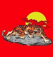 tiger beat tattoo vector