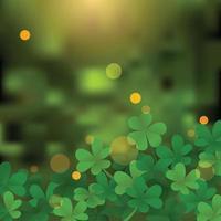 Green Clover Leaf Background vector