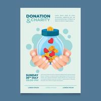 Donation And Charity Poster Event vector