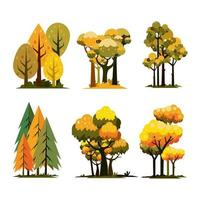 Autumn General Tree Icon Concept vector