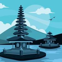 Flat Landmark of Bali Concept vector