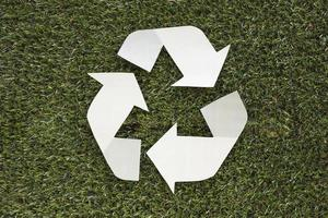 Recycle symbol grass. High quality beautiful photo concept