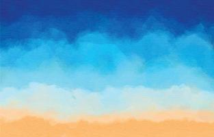 Beach Watercolor Texture vector