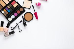 Various cosmetics scattered table. High quality beautiful photo concept