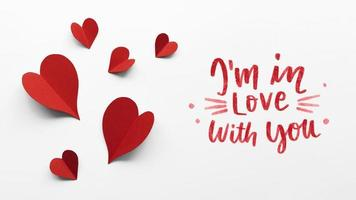 Arreglo de San Valentín con texto. concepto de foto hermosa de alta calidad