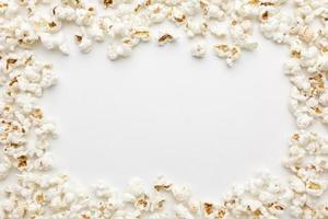 top view popcorn frame with copy space. High quality beautiful photo concept