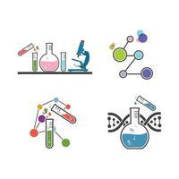 laboratory icon logo vector illustration design