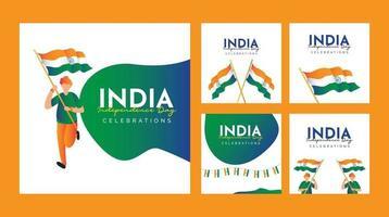 plantilla de diseño del día de la independencia de la india. vector