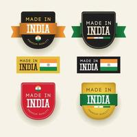 Made in India badge vector template.